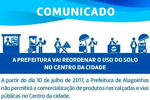 Prefeitura de Alagoinhas irá reordenar ambulantes no Centro da cidade